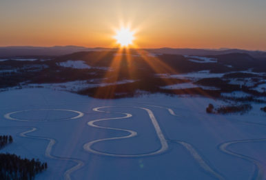 Frozen lake near Jokkmokk, Sweden. Source: Environmental Justice Foundation