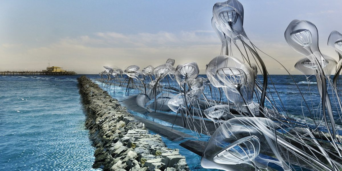 rendering of jellyfish above getty