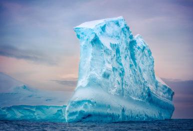 iceberg floating in open ocean
