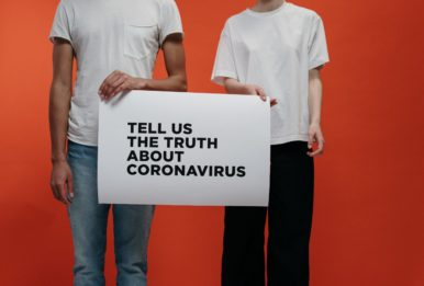 During a crisis, such as the coronavirus, disinformation can take hold. Source: Pexels